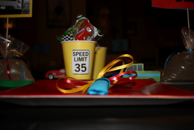Cute cups for Hot Wheels themed birthday