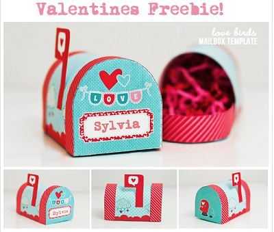 Free printable template to make Valentine's Day Mailbox