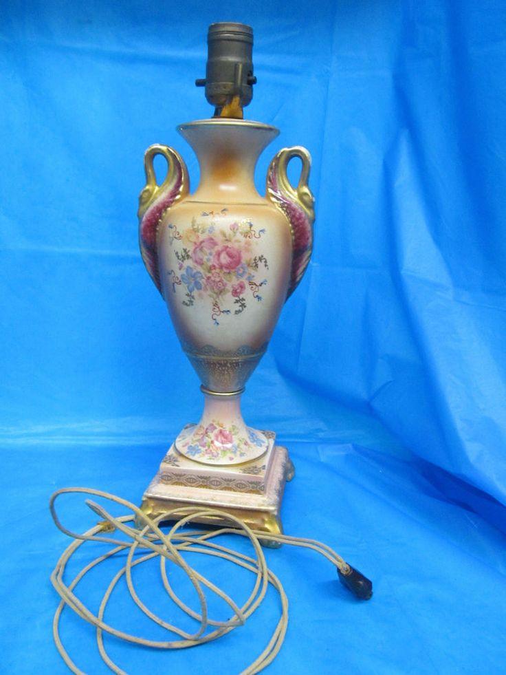 107 Best Swan Art Amp Vintage Ceramic Lamps Images On
