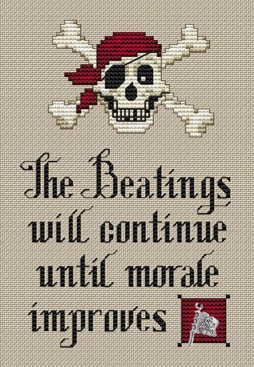 Pirate's Creed - Cross Stitch Pattern