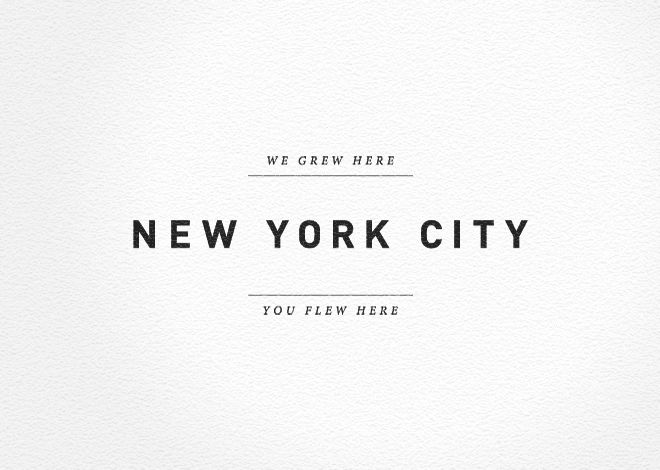 allan yu / we grew here. new york city. you flew here.