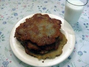 Slovak potato pancakes- Potato pancakes (zemiakové placky, or also called haruľa) are very popular in Slovakia. They are similar to latkes, but are seasoned with marjoram,...