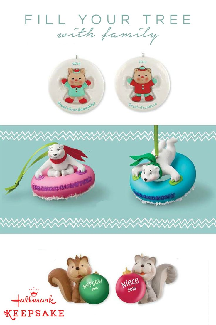 Represent The Whole Family On Your Christmas Tree With These Playful,  Personalized Hallmark Keepsake Ornaments