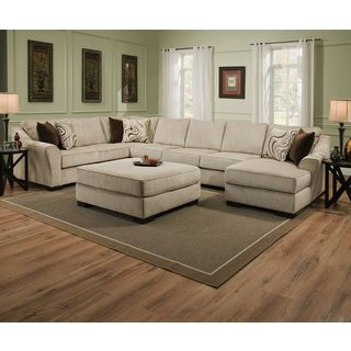 Shop for Simmons Upholstery Kingsley Beige Large Sectional and Ottoman. Get free delivery at Overstock.com - Your Online Furniture Shop! Get 5% in rewards with Club O!