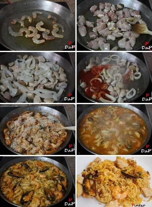 PAELLA---comida panameña   Dejamos reposar el arroz , después de los 15 minutos, durante unos 3 ...