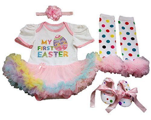 5cdc84358 AISHIONY Baby Girl My 1st Easter Tutu Costume Outfit Newborn Party Dress  4PCS XL | Baby Costumes | Tutu costumes, Easter outfit, Onesie dress