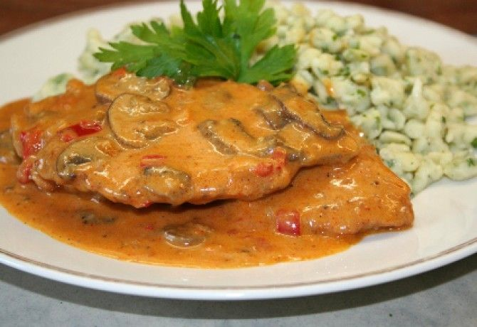 Bakonyi sertésszelet Vicikó konyhájából recept képpel. Hozzávalók és az elkészítés részletes leírása. A bakonyi sertésszelet vicikó konyhájából elkészítési ideje: 80 perc