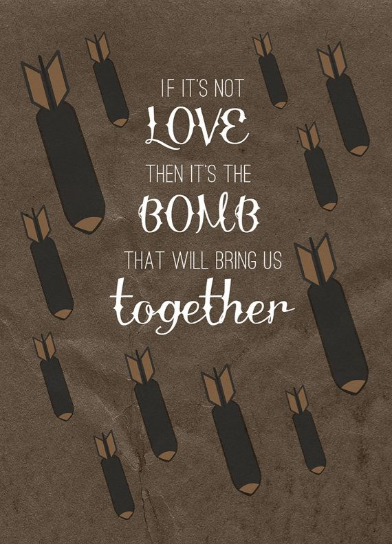 It's the bomb that will bring us together - The Smiths Quote Art Print by AndSoItGoesShop on Etsy - tattoo inspired art