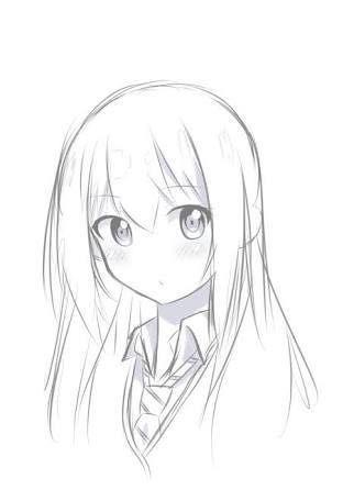 Anime girl easy sketch