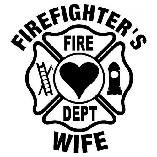 Firefighters wife Die Cut Vinyl Decal PV882
