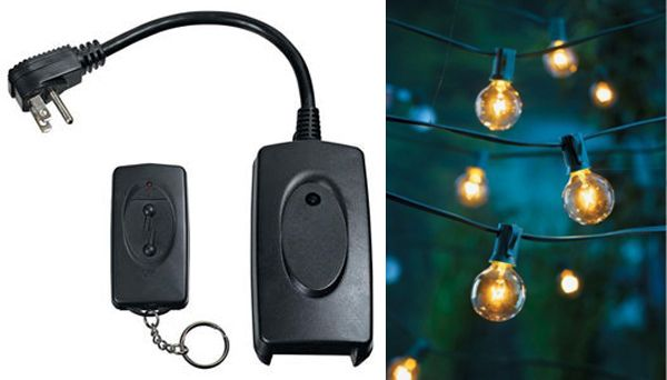 Outdoor String Lights With Remote : Patio String Lights on Remote Patio, String lights and Lighting