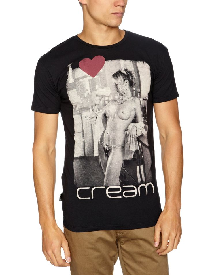 Religion Clubbed to Death I Love Cream Men's T-Shirt Jet Black Small: Amazon.co.uk: Clothing