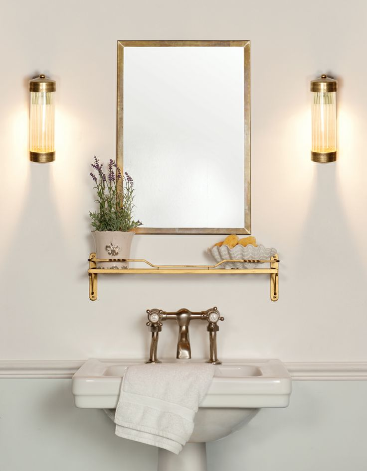 The *NEW for 2014* Cheltenham Wall Light in Antiqued Brass. This is a super addition to our bathroom range of wall lights.