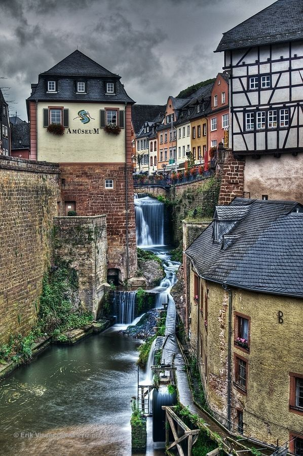 Saarburg, Germany. Along Saar Cycle Route which also goes into nearby France.