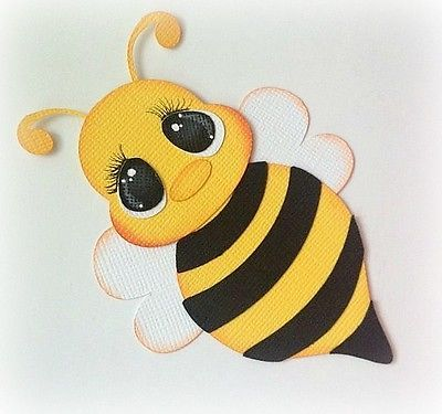 Flying Bee Insect Animal Premade Paper Piecing 3D Die Cut My Tear Bears Kira