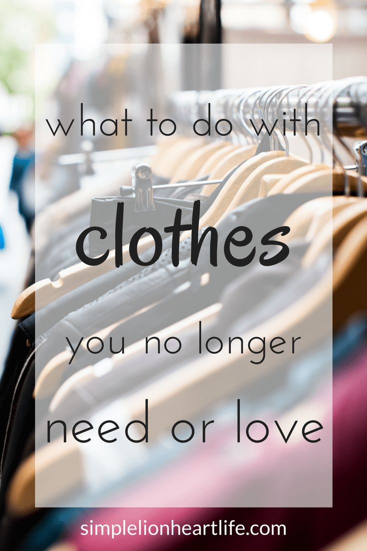 What to do with clothes you no longer need or love (scheduled via http://www.tailwindapp.com?utm_source=pinterest&utm_medium=twpin)