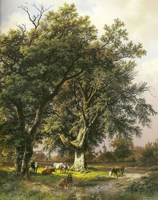 Paintings Reproductions Koekkoek, Barend Cornelis Landscape