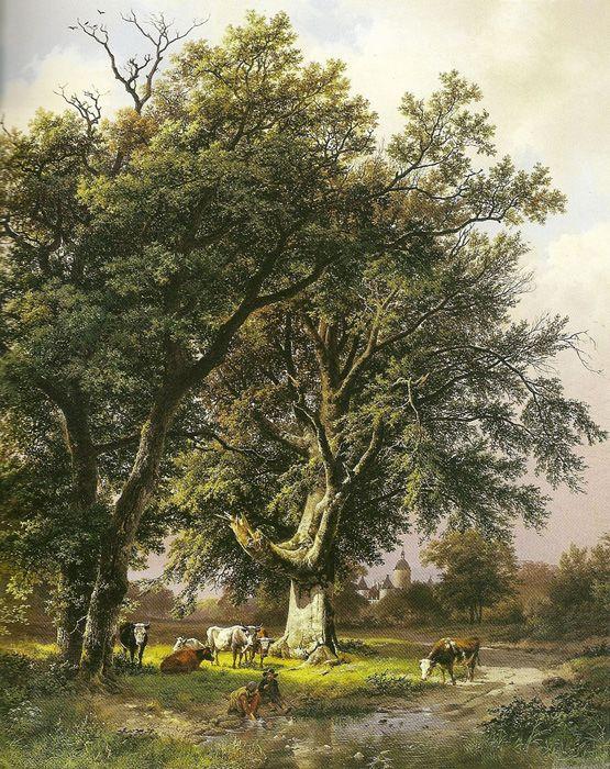 Paintings Reproductions Koekkoek, Barend Cornelis Landscape