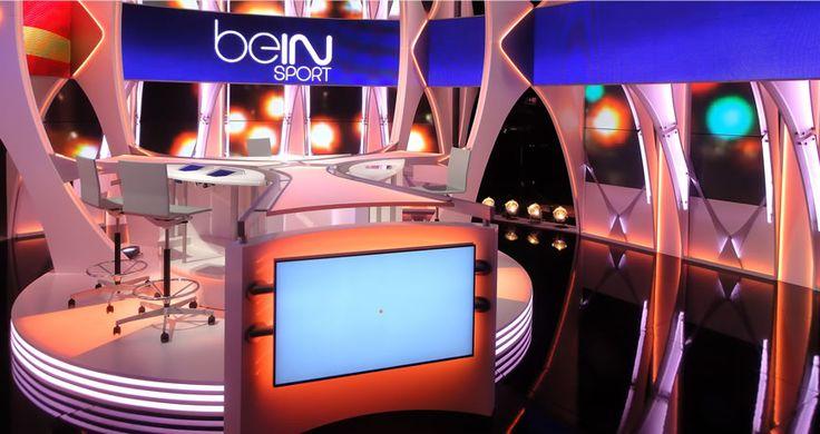 beIN Sports studio set Pesquisa Google SET DESIGN