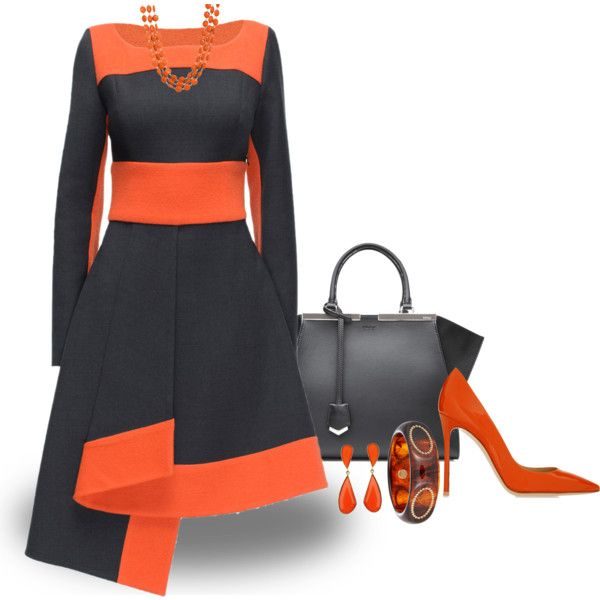 A fashion look from October 2015 featuring Lattori dresses, Gianvito Rossi pumps and Fendi tote bags. Browse and shop related looks.
