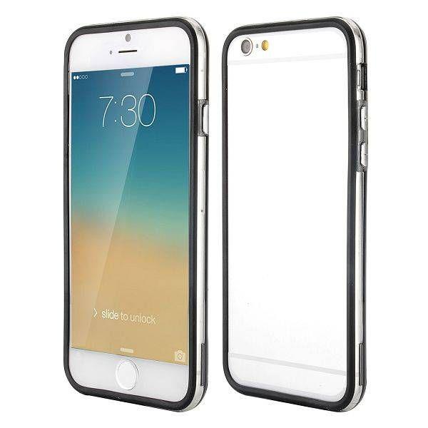 Zwart / transparante bumper voor iPhone 6 Plus