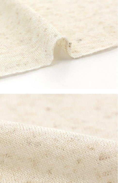 Biancheria di cotone a maglia tessuto Beige chiaro di landofoh