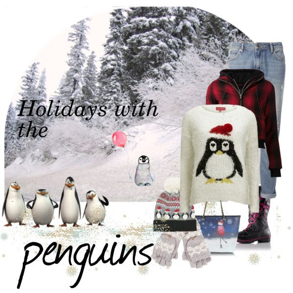 """Holidays with the penguins"" by gelykou on Polyvore"