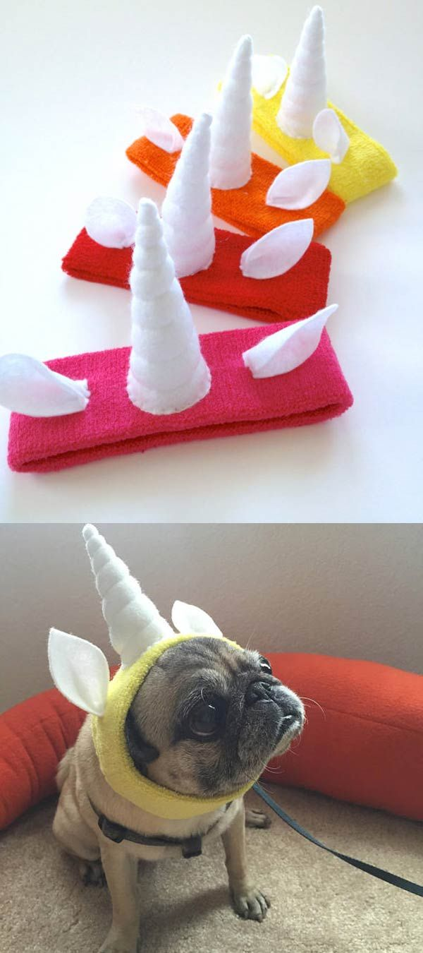 Unicorn headband with tiny ears
