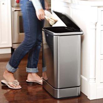 シンプルヒューマンキッチン台所ゴミ箱ステンレスレクタンギュラーセンサーカン 通販 - ディノス