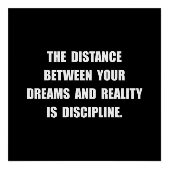 Discipline Quote Poster Inspirational Thoughts Pinterest