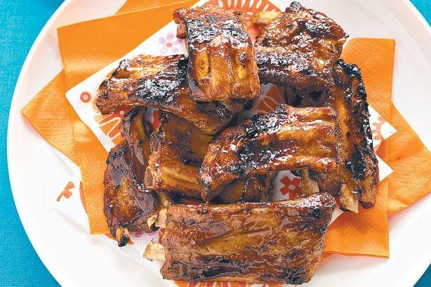 Sweet chilli marinated pork ribs