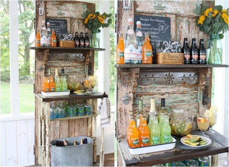 ... DIY en vieilles portes de bois - une idée esthétique et pratique