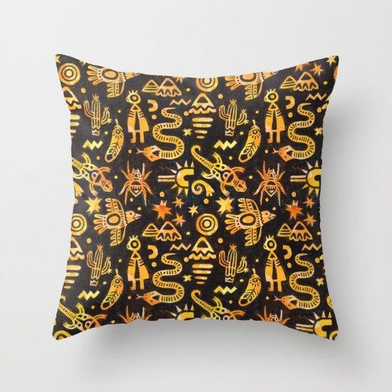 Desert Animals Throw Pillow
