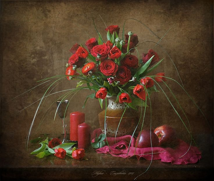 Этюд красных цветов