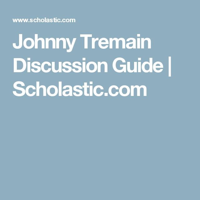 13 best johnny tremain activities images on pinterest american johnny tremain discussion guide scholastic fandeluxe Choice Image