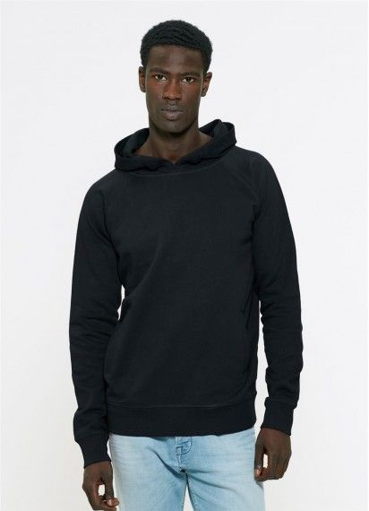 Mateo in Black. This UNISEX hoodie is fair trade and made in Bangladesh from 100% organic cotton!