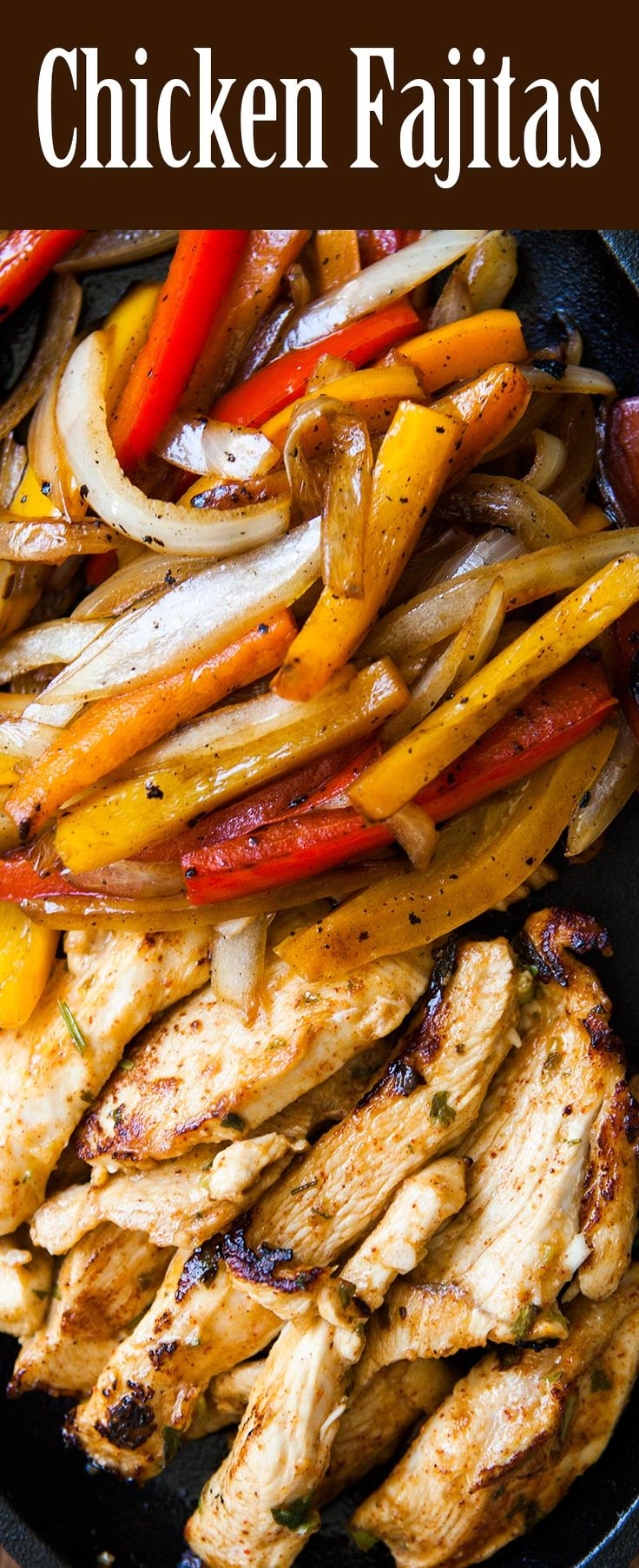 The Best Chicken Fajitas Marinated Chicken Breasts Seared Quickly And Served With Seared Onions And