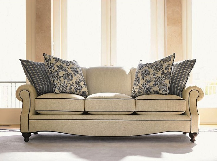 Love the touch of floral on this sofa from drexel for 80s floral couch