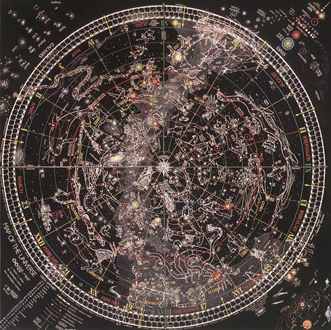 Map of the Universe by Thomas Filsinger -- star chart poster