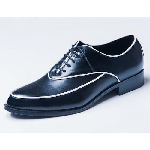 Black Leather Retro Vintage Wedding Prom Dress Oxford Shoes for Men SKU-1100105