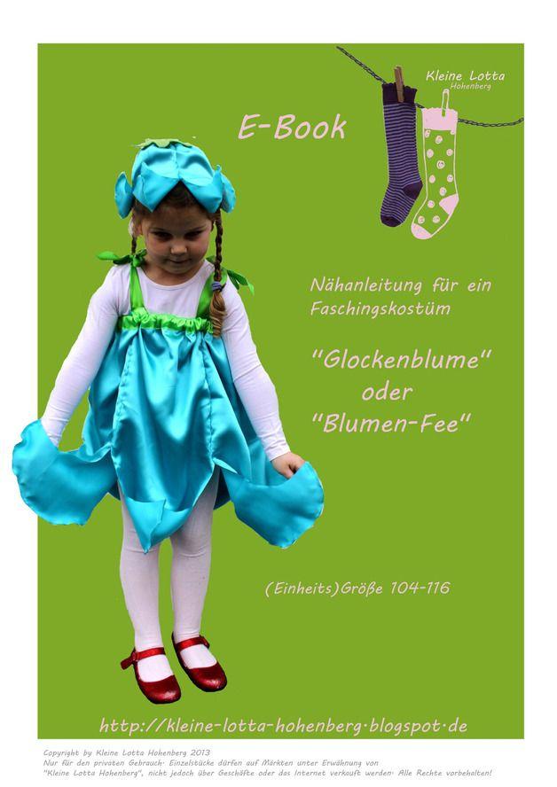 Nähanleitungen Kind - E_BOOK Schnittmuster Blume Elfe Fee - ein Designerstück von Kleine-Lotta-Hohenberg bei DaWanda