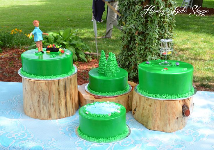 Disc Golf Cake Or Frisbee Golf Groom's Cake I had never heard of disc golf before I did this cake...which doesn't say much...