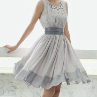 beach party dressPretty Dresses, Flowy Dresses, Style, Dresses Fashion, Parties Dresses, Bridesmaid Dresses, Chiffon Parties, Chiffon Dresses, Grey Dresses