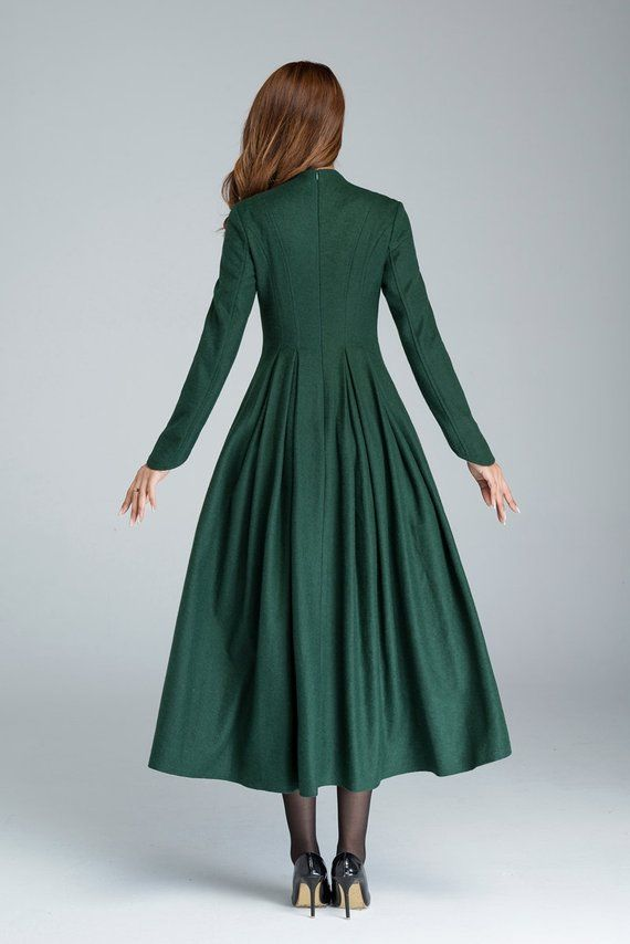 03c4c1a12b Simple green wool dress from Xiaolizi. The prom dress built from a super  soft wool