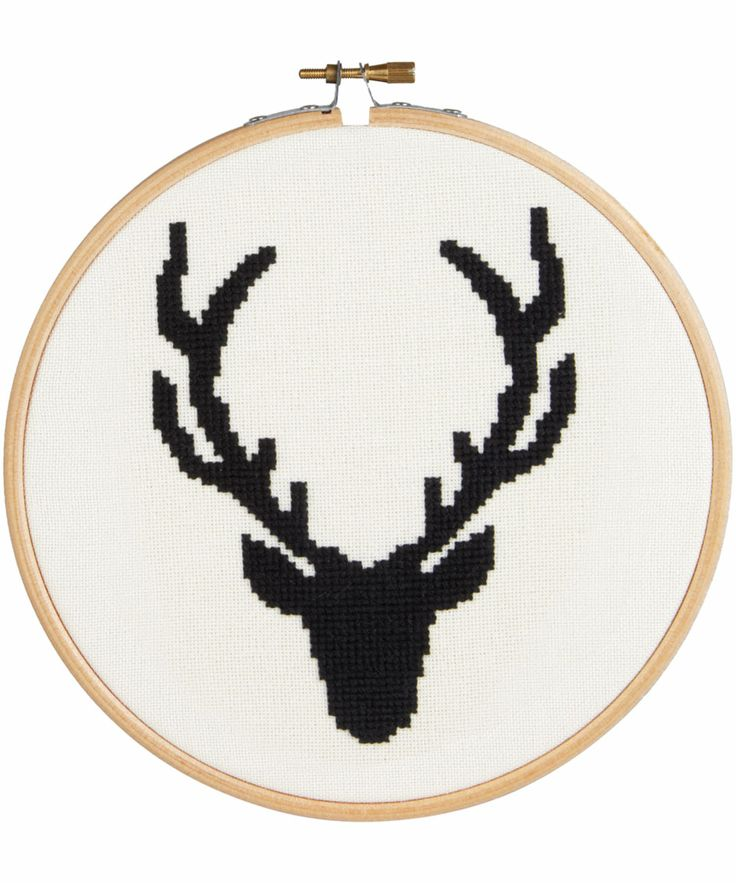 Liberty of London stag head cross stitch kit