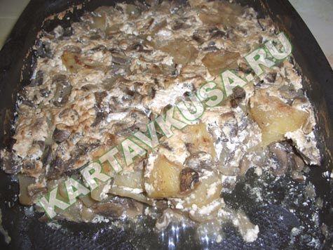 картошка, запеченная с грибами | рецепт с фото