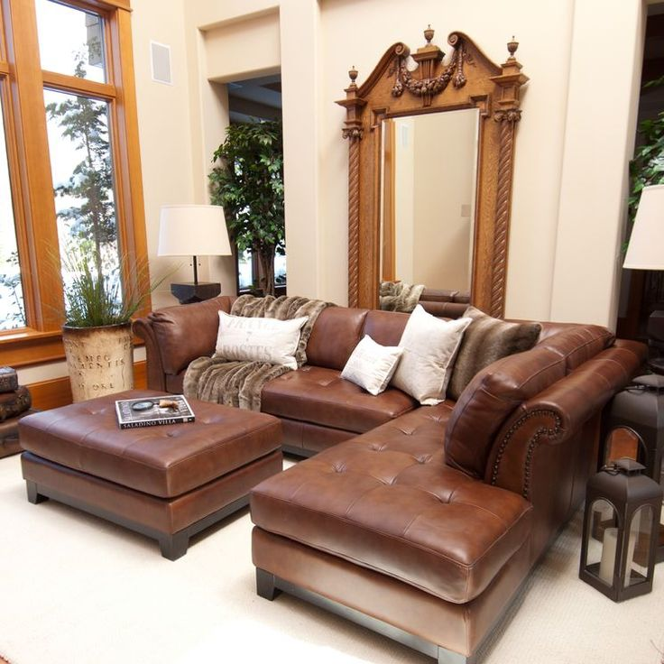 Sectional Sofa Furniture Ideas: Best 25+ Leather Sectional Sofas Ideas On Pinterest