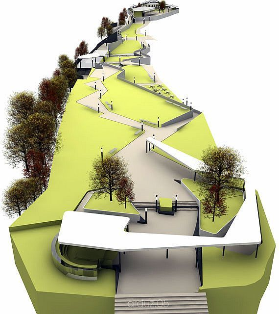 Laikacota Metropolitan Park Design Concept 01 Landschaftsmodell
