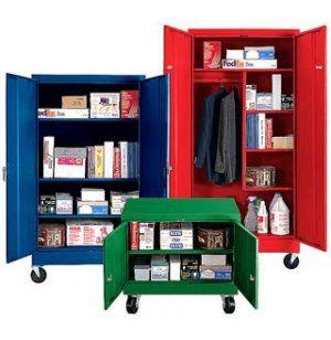 Mobile Steel Wardrobe Storage Cabinet