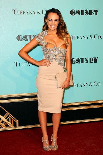 Samantha Jade attends the 'Great Gatsby' Australian premiere at Moore Park on May 22, 2013 in Sydney, Australia.